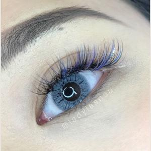 coloured lashes