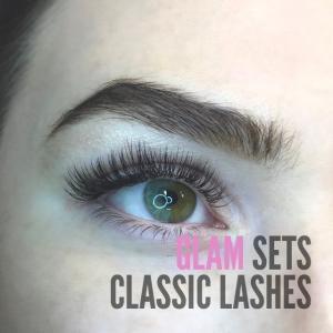 Eyelash extension glamour classic photos