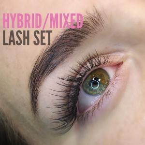 Hybrid Eyelash Extensions Photos