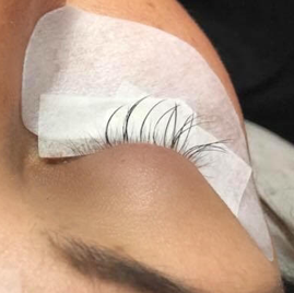 This is not an infill History of Eyelash Extensions