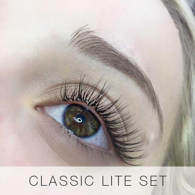 Classic lite set of eyelash extensions