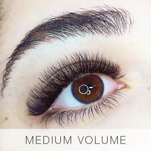 Medium Volume Set of Eyelash Extensions at Lady Lash