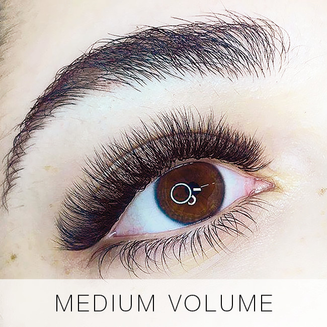 Medium Volume Set of Eyelash Extensions at Lady Lash
