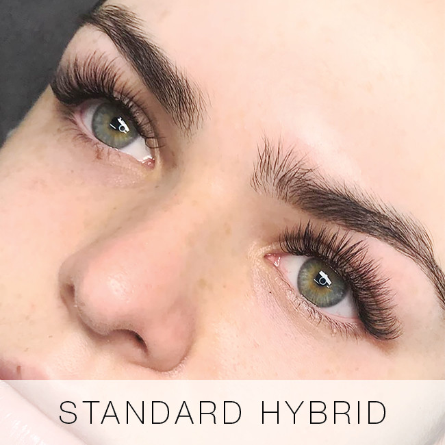 Standard Hybrid Set of Eyelash Extensions at Lady Lash