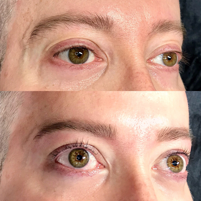 Male Lash Lift and Brow Shape at Lady Lash